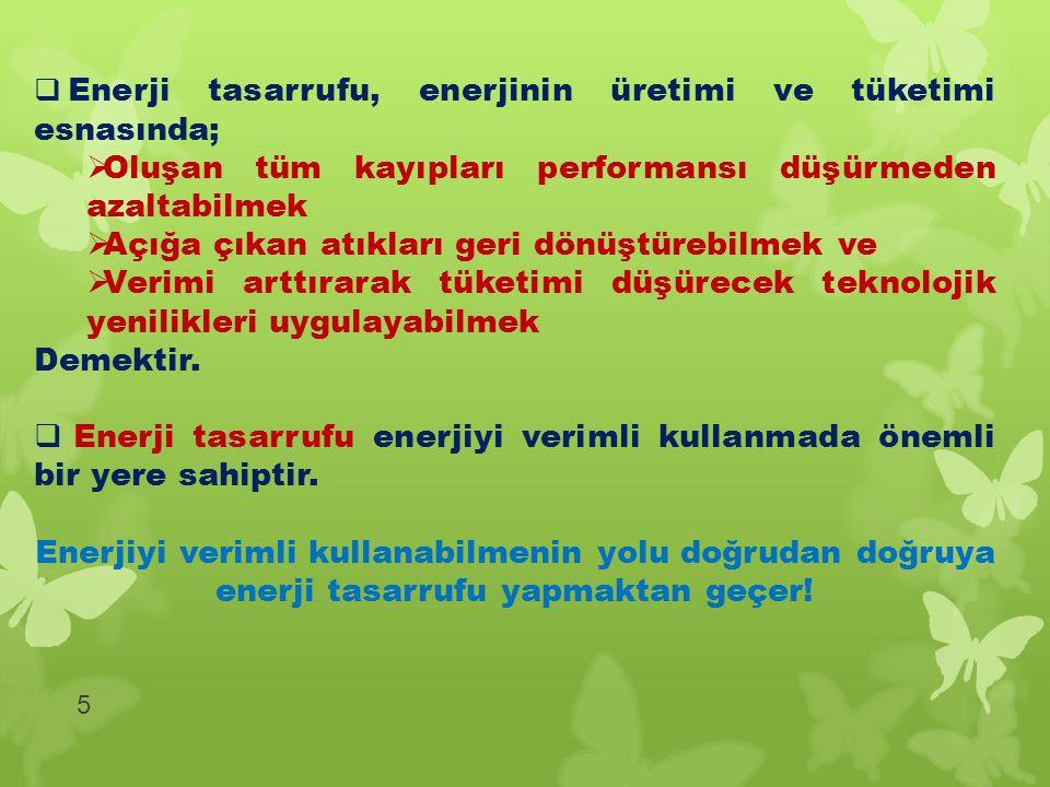 6 Enerji yoğunluğu, bir ülkede enerji verimliliğinin en önemli göstergesidir.