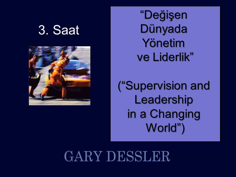 Supervision and Leadership in a Changing World By Gary Dessler © 2012 Pearson Higher Education, Inc Pearson Prentice Hall - Upper Saddle River, NJ 07458 Programın akışı (Gün 1) BaşlangıçBitişSüreAkış/içerik 09:3010:2050 dakikaYÖNETİCİ/LİDER – KISA VAKA 1 10:2010:3010 dakika 10:3011:2050 dakikaKARAR VERME – KISA VAKA 2 11:2011:3010 dakika 11:3012:2050 dakika PLANLAMA VE KONTROL 12:3013:301 saatÖğle Arası 13:3014:2050 dakikaUZUN VAKA - OKUMA 14:2014:3010 dakika 14:3015:2050 dakikaUZUN VAKA - TARTIŞMA 15:2015:4020 dakika 15:4016:3050 dakikaELEMAN ALMA 16:3016:4010 dakika 16:4017:3050 dakikaMOTİVASYON 2