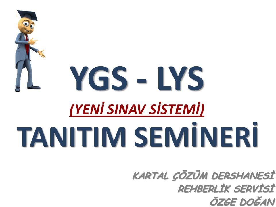 2010- ÖSYS İkinci Aşama : Lisans Yerleştirme Sınavı (LYS) İkinci Aşama (LYS) Puan Türleri 2.