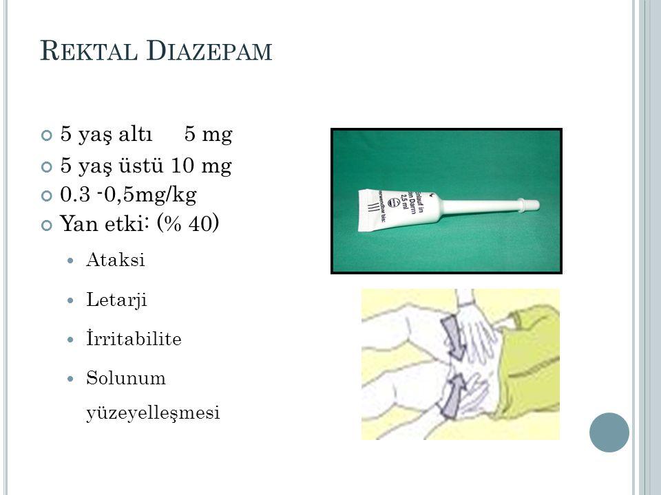 TANI Çocukluk çağı absans epilepsi TEDAVİ Na Valproat: Nöbetleri çok sık olduğu için IV yükleme ardından oral tedaviye geçildi