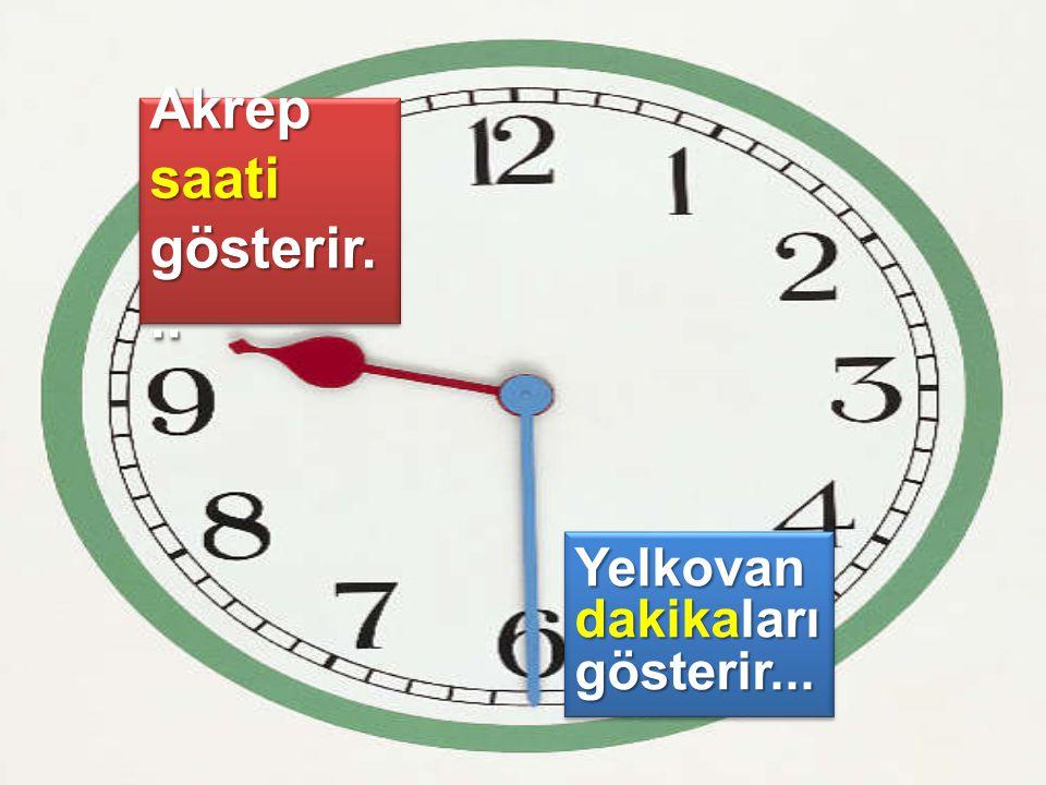Akrep saati gösterir... Yelkovan dakikaları gösterir...
