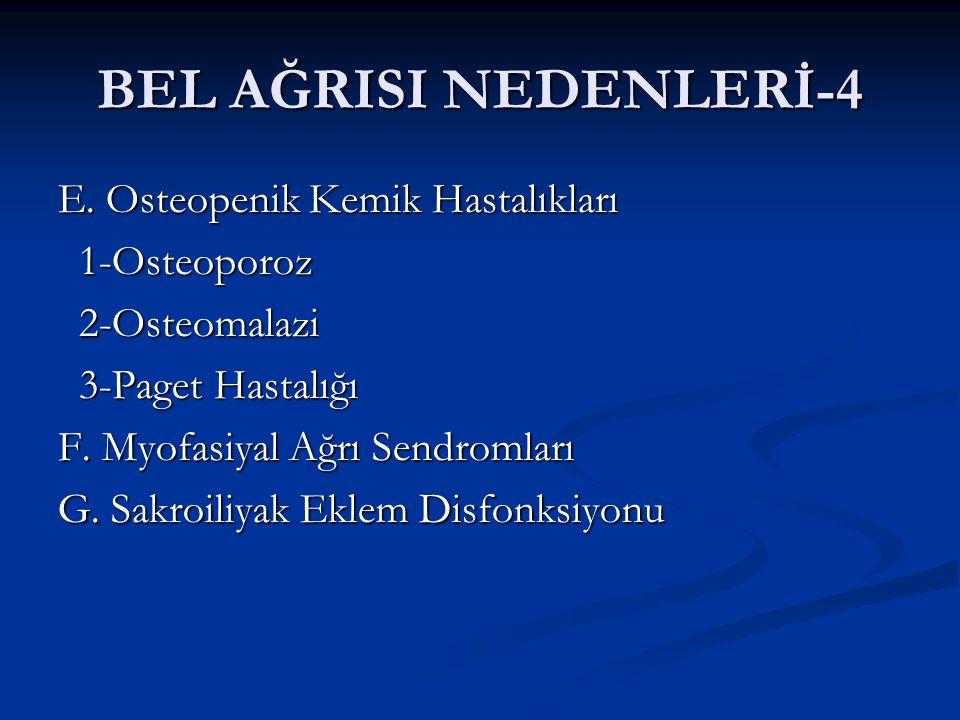 BEL AĞRISI NEDENLERİ-4 E.