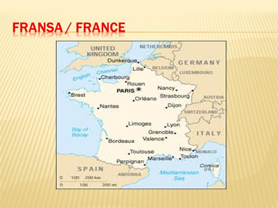  Nüfusu yaklaşık 70 milyon olan Fransa, Avrupa'nın önemli ve kilit rol oynayan iki büyük ülkesinden biridir.