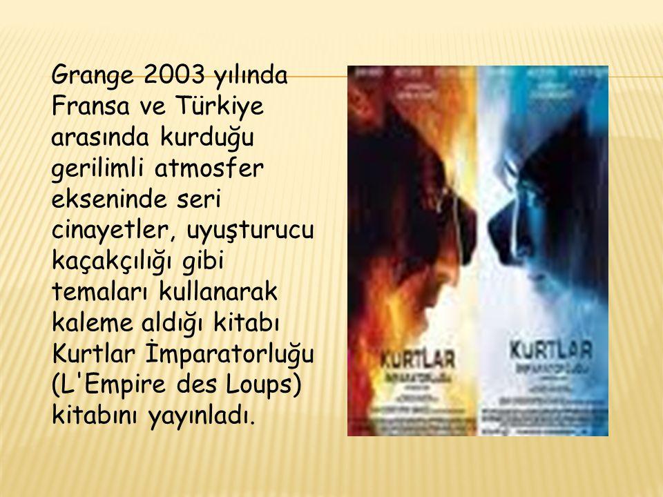 Grange 2003 yılında Fransa ve Türkiye arasında kurduğu gerilimli atmosfer ekseninde seri cinayetler, uyuşturucu kaçakçılığı gibi temaları kullanarak k