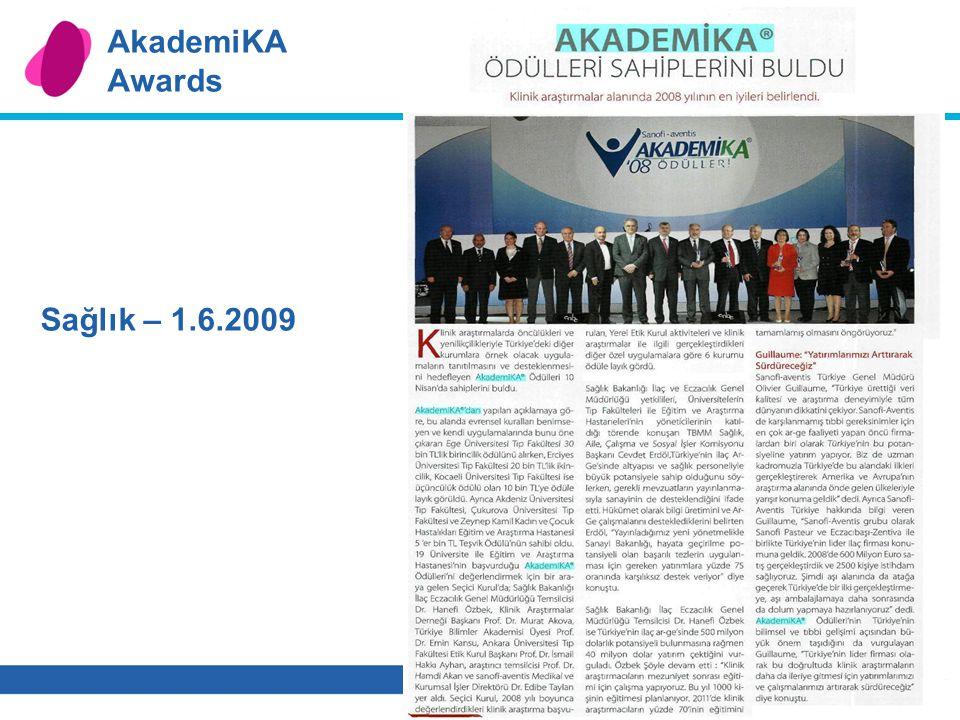 10 AkademiKA Awards Sağlık – 1.6.2009