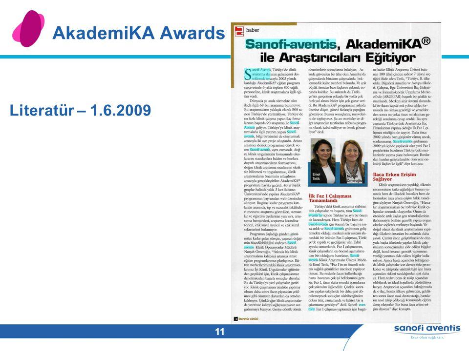 11 AkademiKA Awards Literatür – 1.6.2009