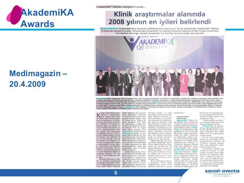5 AkademiKA Awards Medimagazin – 20.4.2009