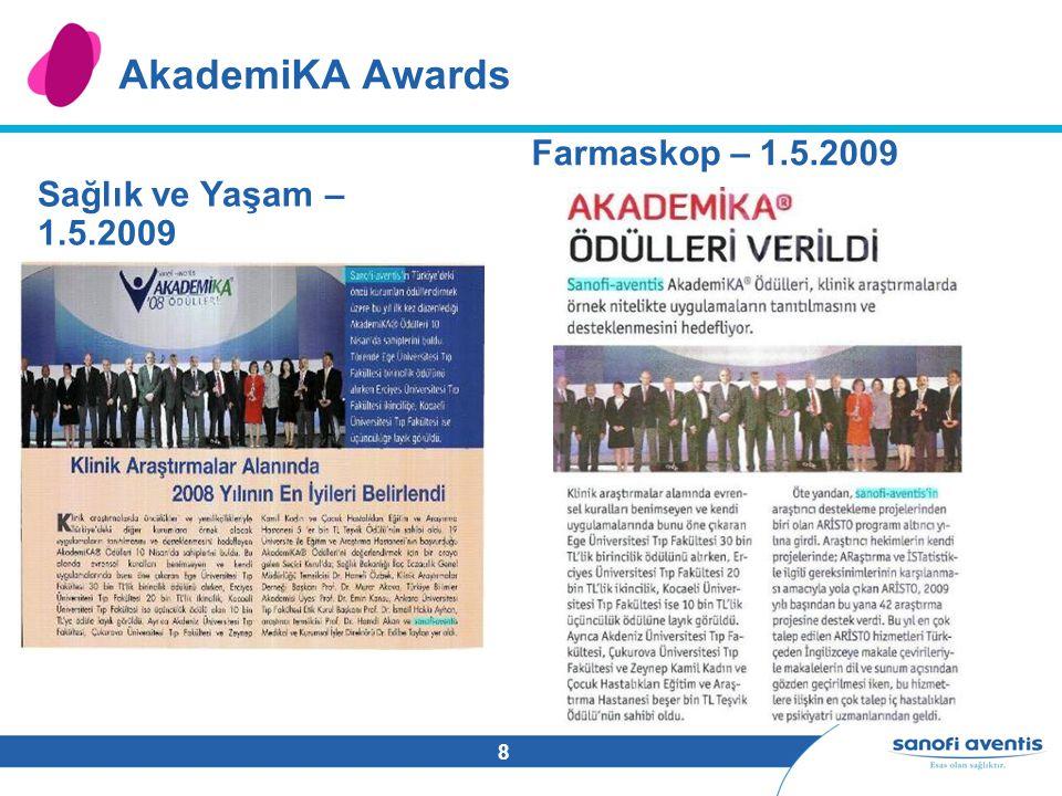 8 AkademiKA Awards Sağlık ve Yaşam – 1.5.2009 Farmaskop – 1.5.2009