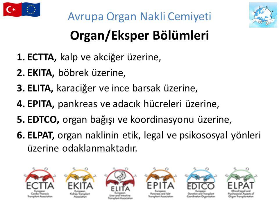 1.ECTTA, kalp ve akciğer üzerine, 2.EKITA, böbrek üzerine, 3.ELITA, karaciğer ve ince barsak üzerine, 4.EPITA, pankreas ve adacık hücreleri üzerine, 5