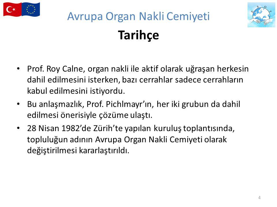 1.Organ bağışı ve organ nakli konusundaki bilginin arttırılmasını ve araştırmalar yapılmasını desteklemek, 2.Organ bağışı ve organ nakli alanındaki aktiviteler için bilimsel bir forum oluşturmak, 3.Klinik ve bilimsel deneyimlerin paylaşılacağı, klinikteki yeni metotların sunulacağı ve organ bağışı ve organ nakli ile ilgili hukuksal ve etik sorunların gündeme getirileceği bir tartışma ortamı yaratmak, 5 Avrupa Organ Nakli Cemiyeti Amaçlar