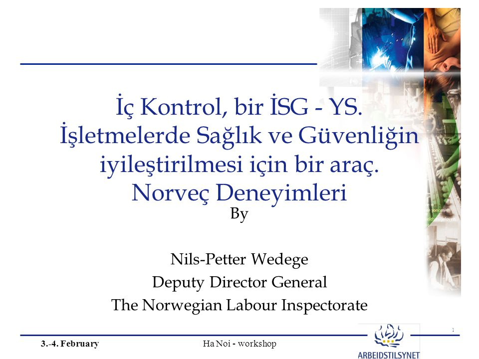 1 3.-4. February Ha Noi - workshop İç Kontrol, bir İSG - YS.
