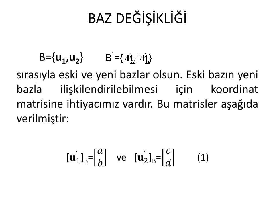 ÖZDEĞER ÖZVEKTÖR A= nxn tipinde bir matris olsun.