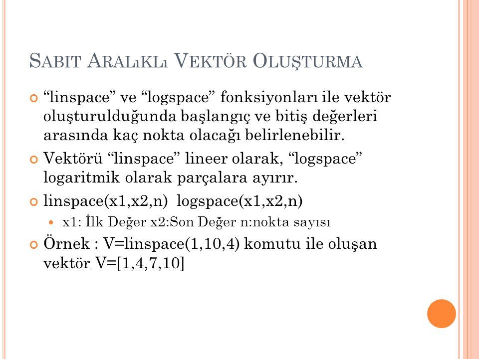 M ATRISLER 1.satır 2. satır 1. sütun 2.