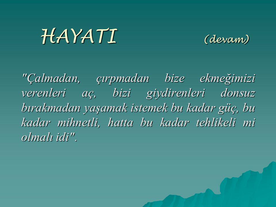 HAYATI ( (devam)