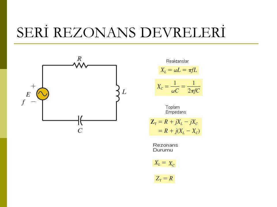 Rezonans Devrelerinin Filtre Olarak Kullanılması Bant Geçiren Filtreler Belirli bir frekans aralığını çıkışa taşıyan, bu aralığın altında ya da üstünde olan frekansları ise tutan filtredir.