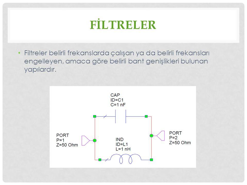 FİLTRE ÇEŞİTLERİ Filtre çeşitlerini dört genel başlıkta toplayabiliriz.