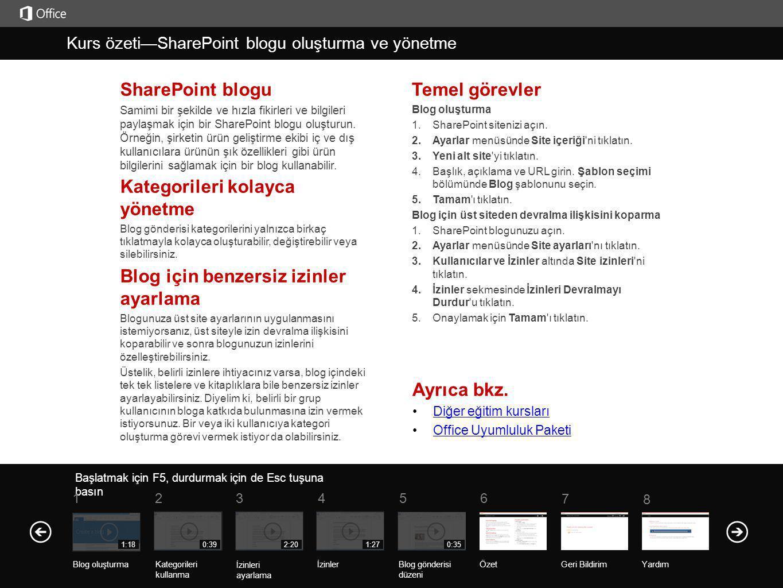 Ayrıca bkz. Diğer eğitim kursları Office Uyumluluk Paketi SharePoint blogu Samimi bir şekilde ve hızla fikirleri ve bilgileri paylaşmak için bir Share