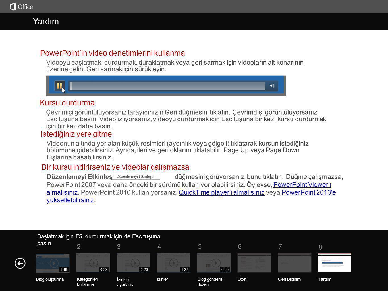 Yardım Kurs özeti Başlatmak için F5, durdurmak için de Esc tuşuna basın ÖzetGeri Bildirim Yardım 5 7 61 234 8 1:18 Blog oluşturma 0:39 Kategorileri ku