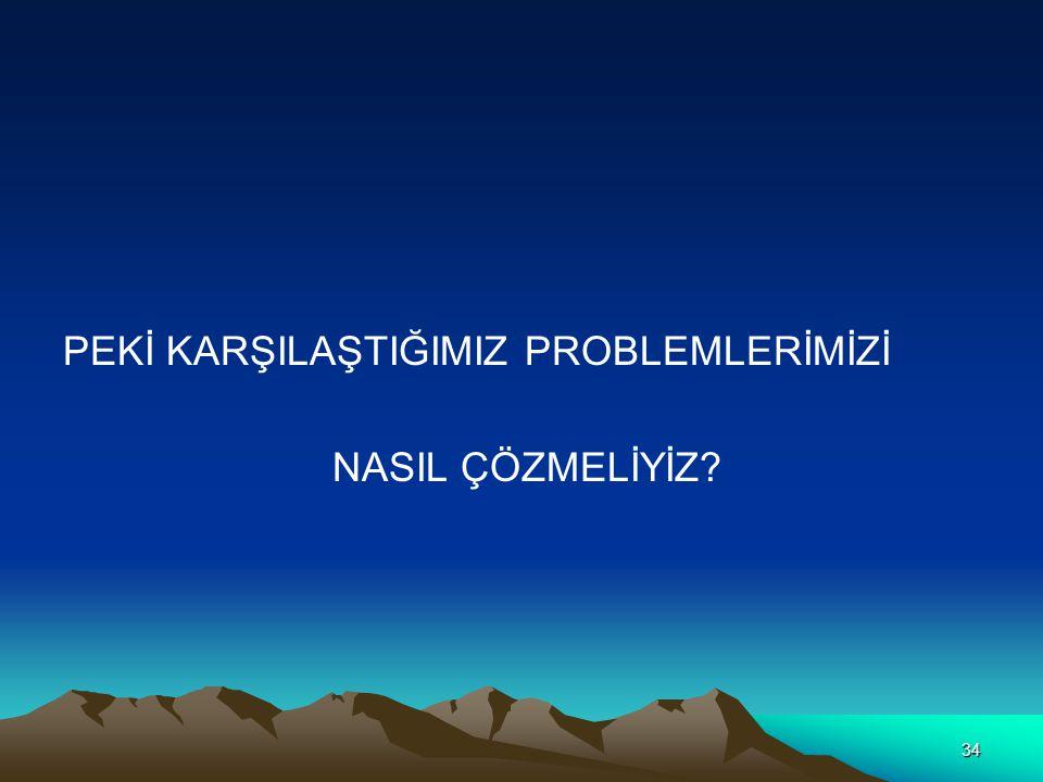 34 PEKİ KARŞILAŞTIĞIMIZ PROBLEMLERİMİZİ NASIL ÇÖZMELİYİZ?