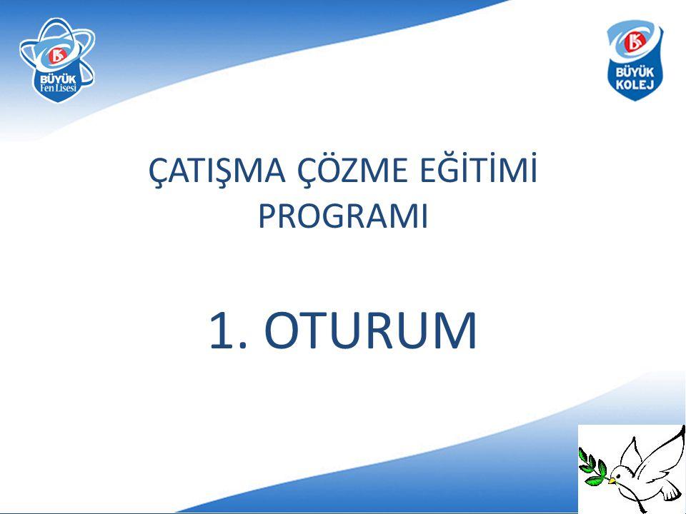 ÇATIŞMA ÇÖZME EĞİTİMİ PROGRAMI 1. OTURUM