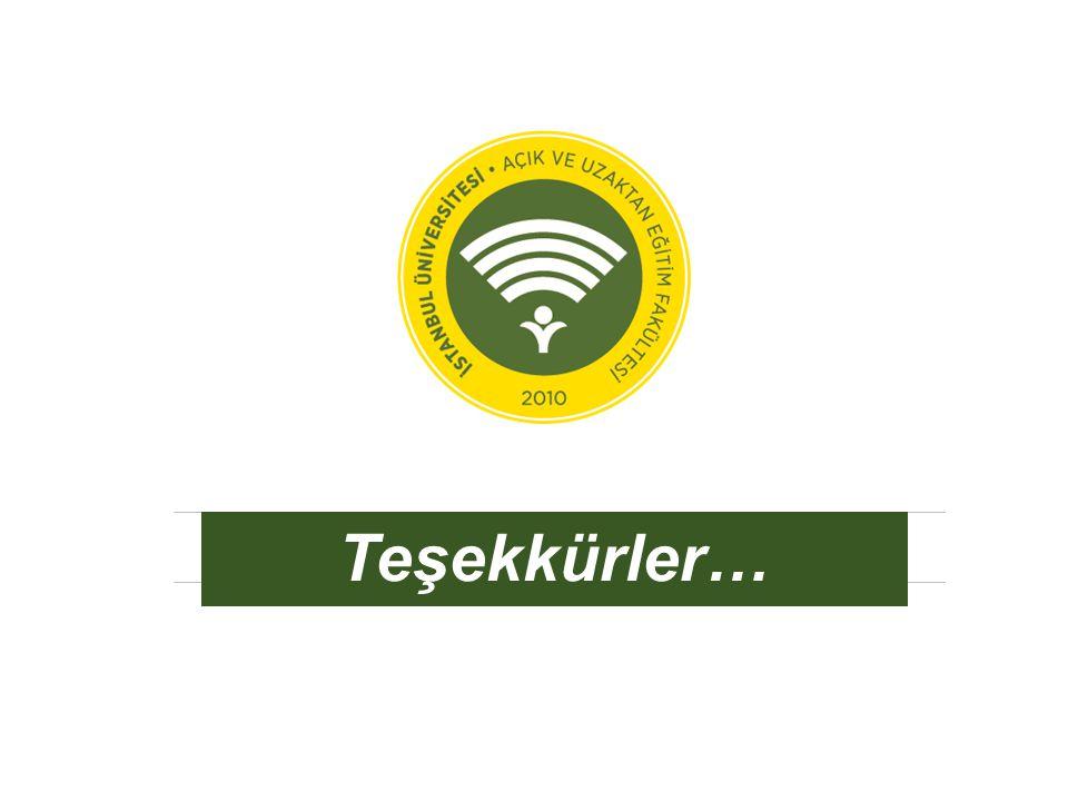 auzef.istanbul.edu.tr Teşekkürler…