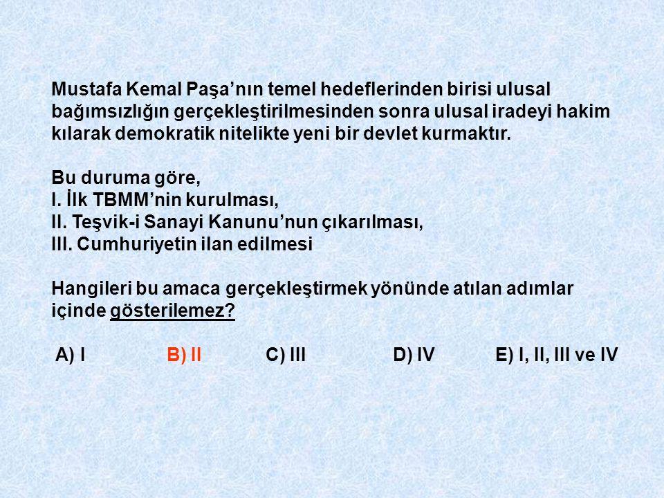 Mustafa Kemal Paşa'nın temel hedeflerinden birisi ulusal bağımsızlığın gerçekleştirilmesinden sonra ulusal iradeyi hakim kılarak demokratik nitelikte