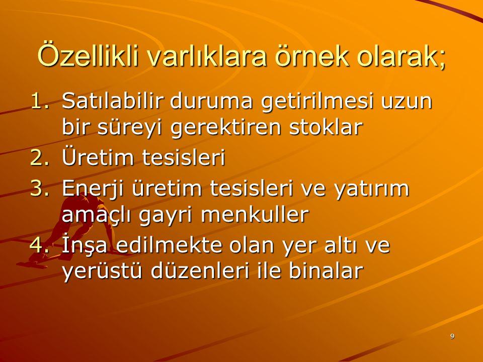 19 BORÇLANMA MALİYETLERİNİN AKTİFLEŞTİRİLMESİ 4.