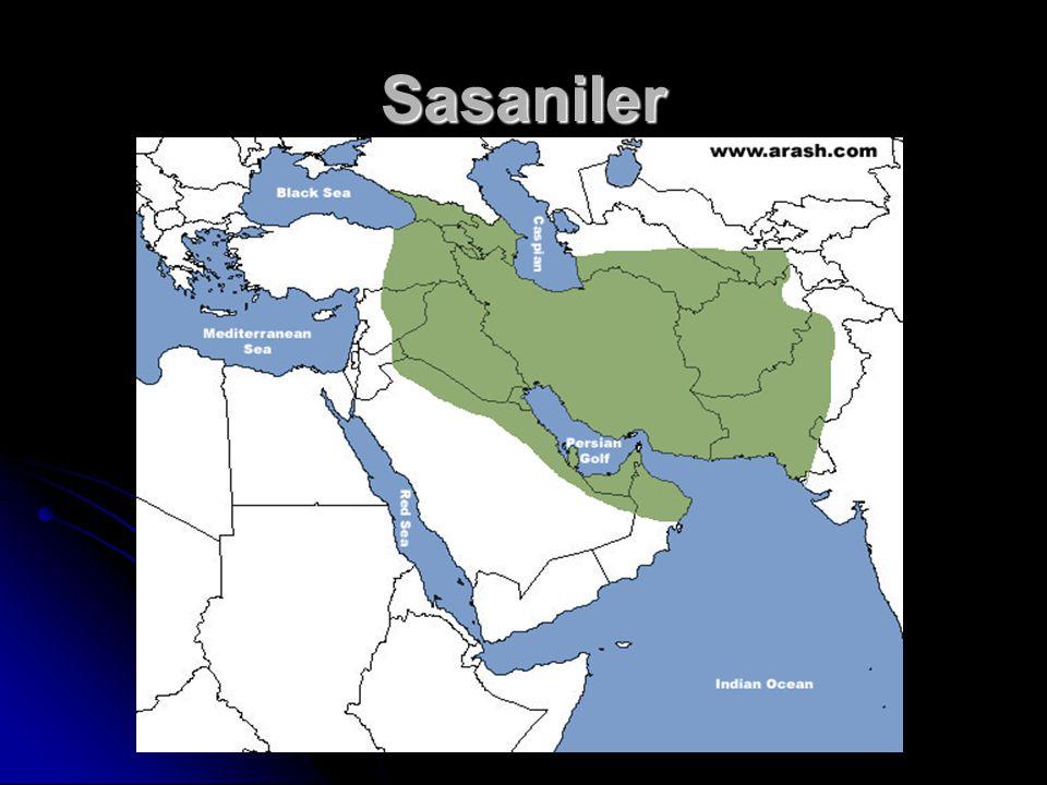 Sasaniler (226-650) İran'da Part İmparatorluğu'nun zayıflamasıyla Babek tarafından kuruldu.