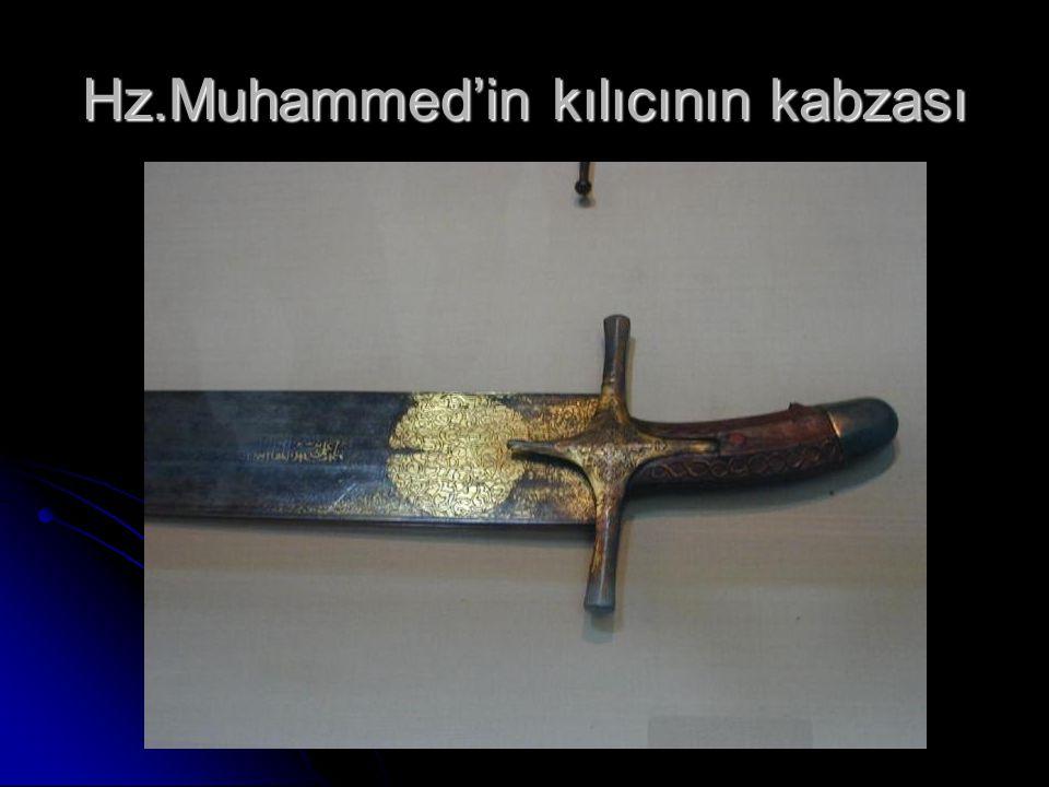 Hz.Muhammed'in kılıcının kabzası