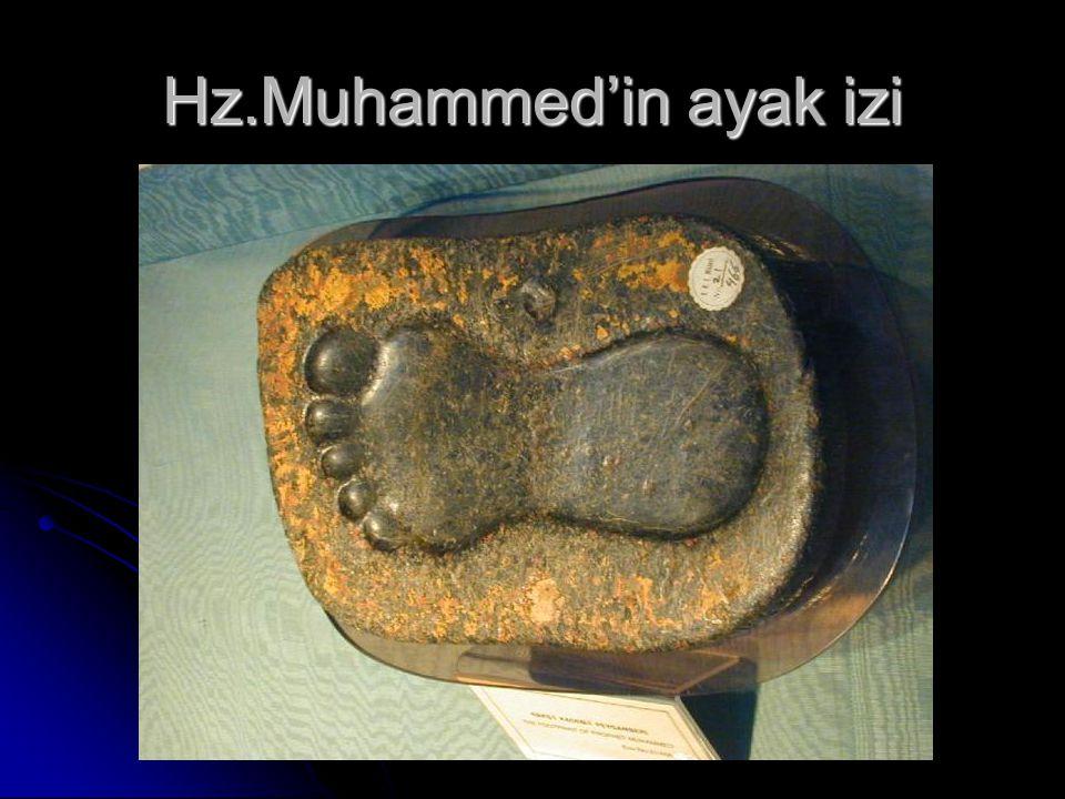 Hz.Muhammed'in ayak izi