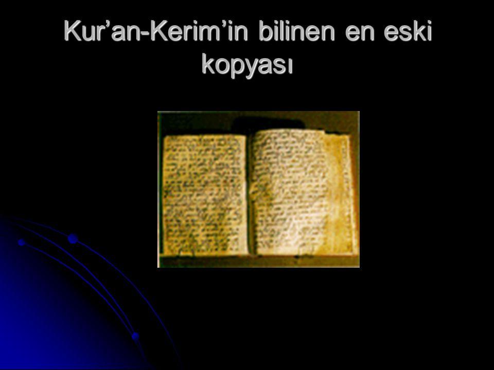 Kur'an-Kerim'in bilinen en eski kopyası