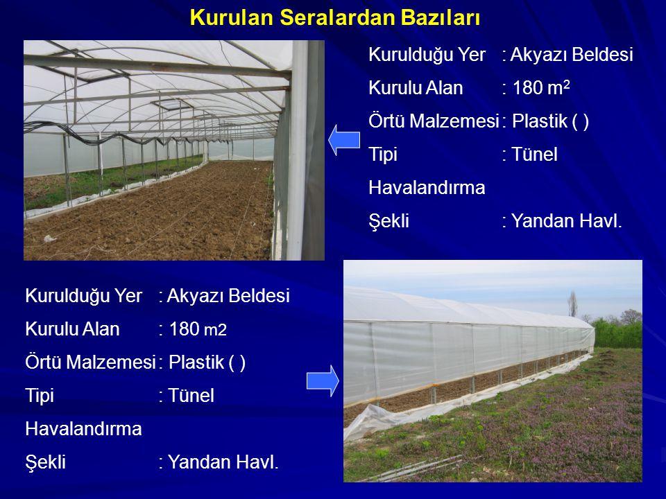GENEL DEĞERLENDİRME Ekonomi ve istihdama katkısı yanında yılın her mevsimi taze meyve- sebze tüketimini olanaklı kıldığından önemli bir yetiştiricilik şeklidir.