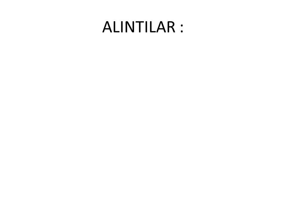 ALINTILAR :