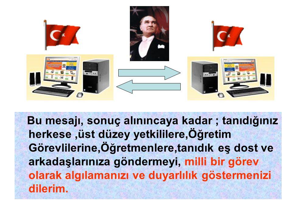 Elbet bir gün bu ülkenin adının TÜRKİYE olduğu ve Turkey olarak gönderilen postaların alınmayacağı dünyaya ilan edilecektir.