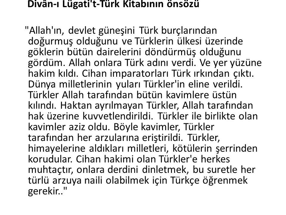 Divân-ı Lügati't-Türk Kitabının önsözü