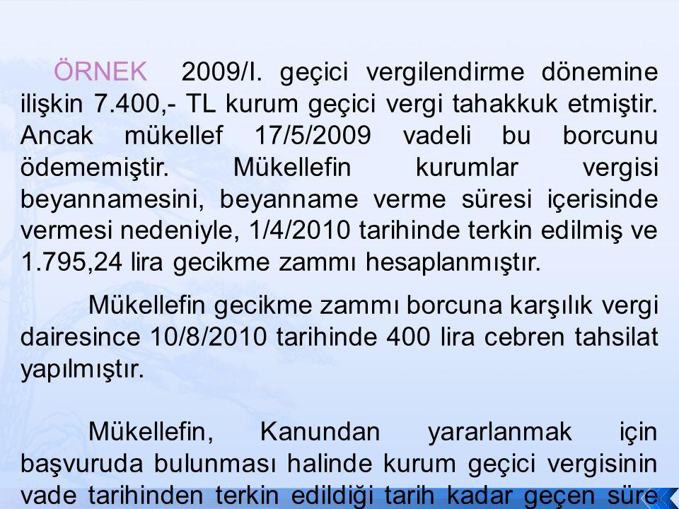 ÖRNEK 2009/I.