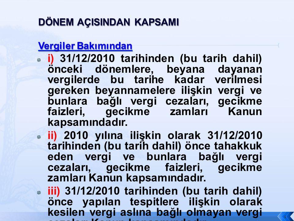  Vergilendirme dönemi 15 gün olanlar 1-15 Aralık 2010 vergilendirme dönemine ait ….