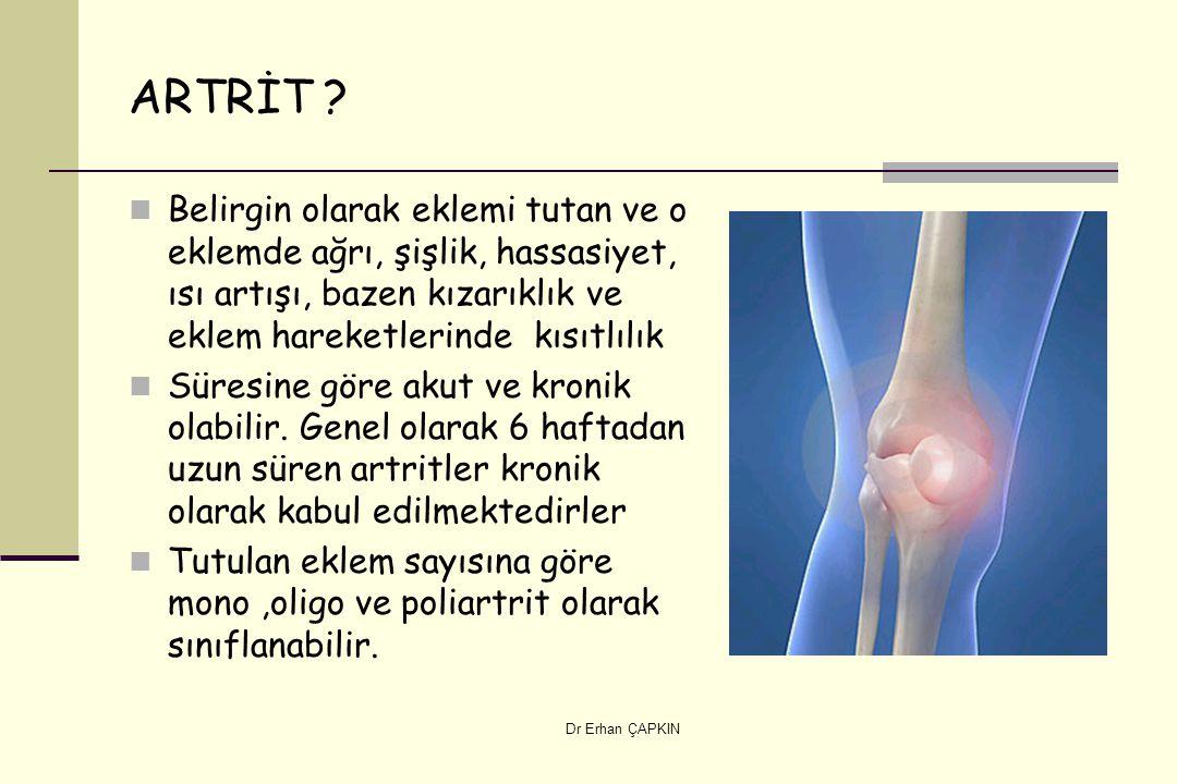Dr Erhan ÇAPKIN ARTRİT .