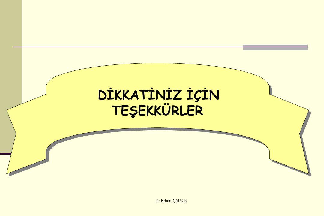 Dr Erhan ÇAPKIN DİKKATİNİZ İÇİN TEŞEKKÜRLER