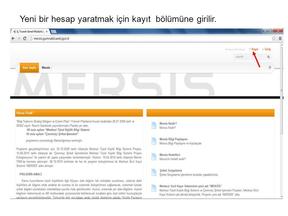 T.C.Kimlik numarası yazılarak KPS' den Al butonuna basılır.