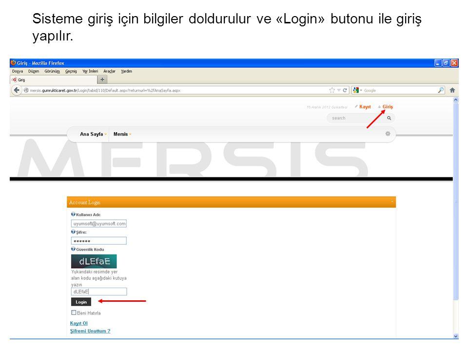 Adres bilgileri Gir/Düzelt butonuna basılarak girilir.