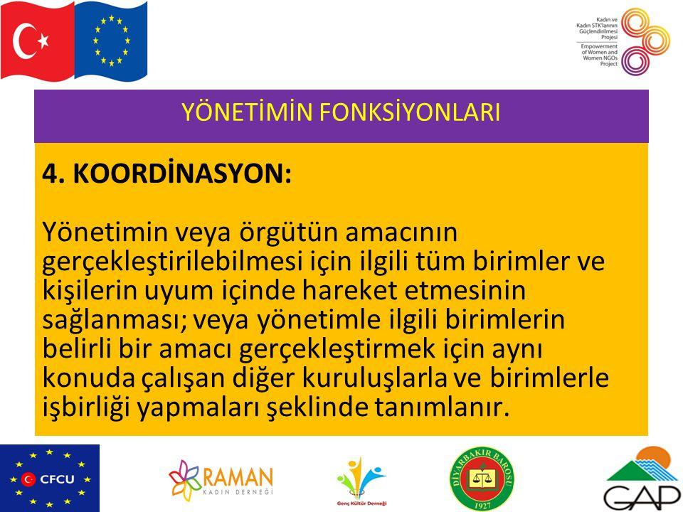 YÖNETİMİN FONKSİYONLARI 4.
