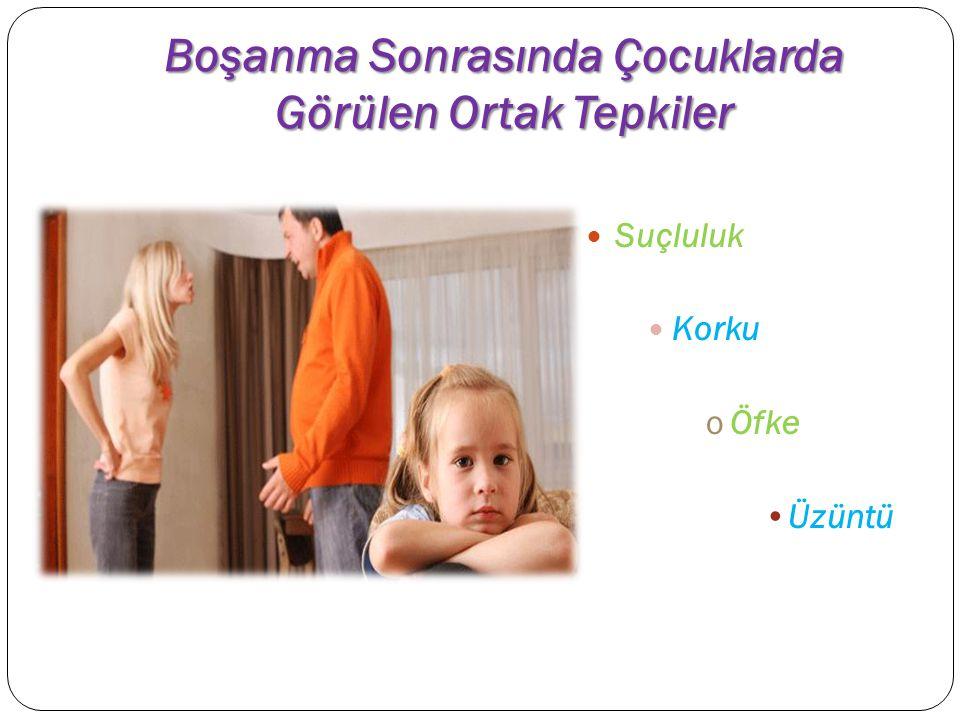 Çocukların Boşanma Sürecine Uyumu boşanma 5 evrede Çocuğun boşanma olayına uyum süreci bazen, ölüm olayına uyum sürecinden daha uzundur.