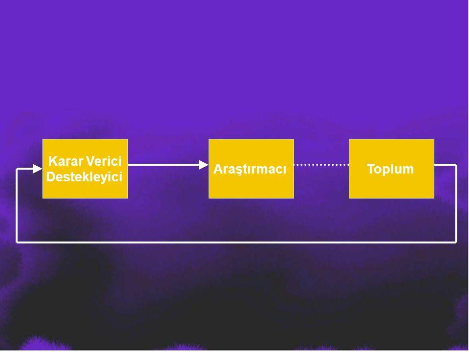 Karar Verici Destekleyici AraştırmacıToplum