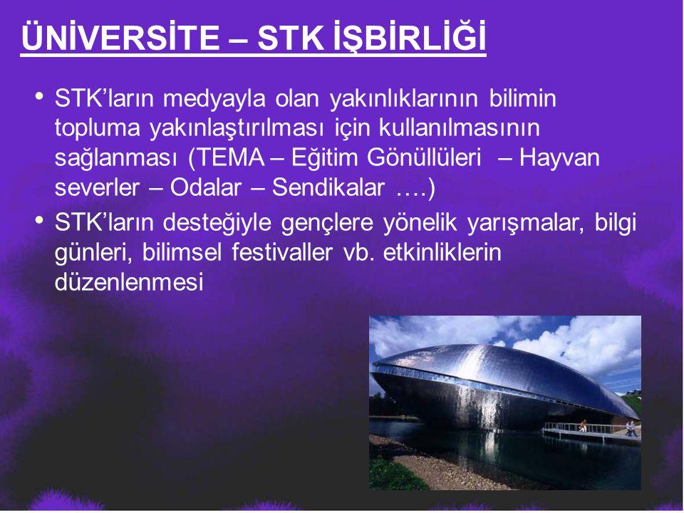 STK'ların medyayla olan yakınlıklarının bilimin topluma yakınlaştırılması için kullanılmasının sağlanması (TEMA – Eğitim Gönüllüleri – Hayvan severler