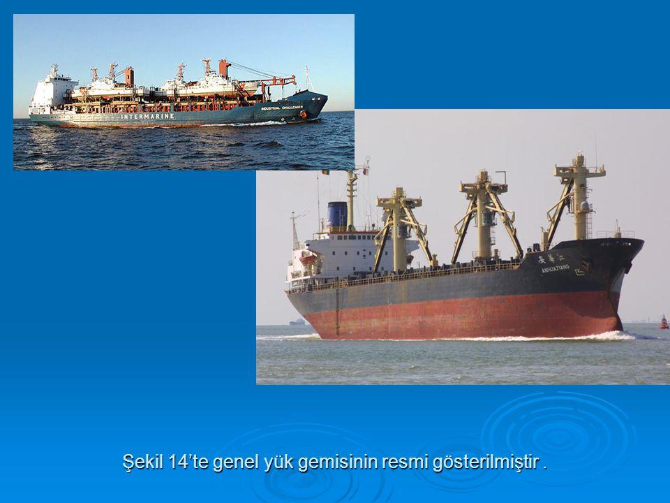 Şekil 14'te genel yük gemisinin resmi gösterilmiştir.
