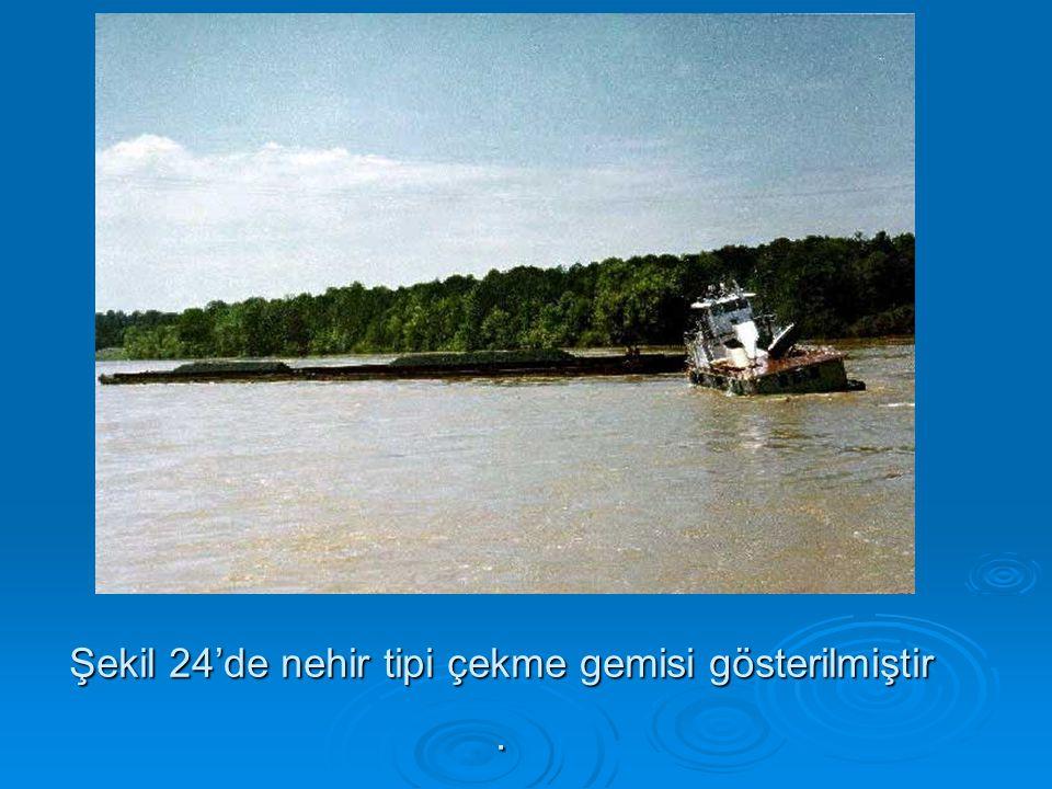 Şekil 24'de nehir tipi çekme gemisi gösterilmiştir.
