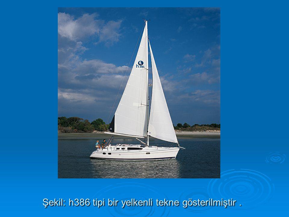 Şekil: h386 tipi bir yelkenli tekne gösterilmiştir.
