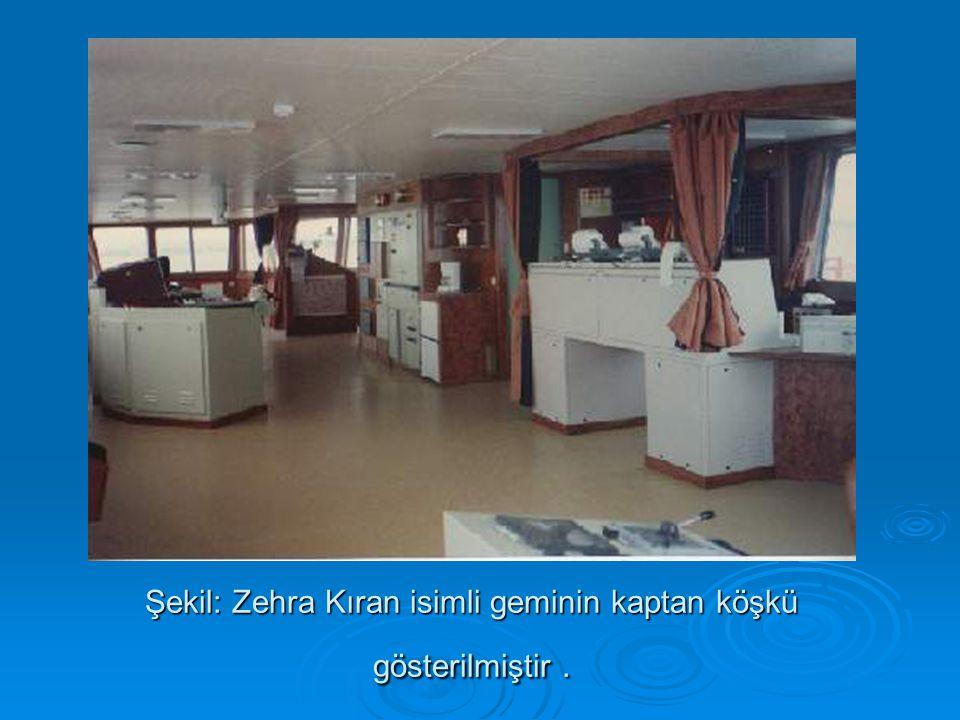 Şekil: Zehra Kıran isimli geminin kaptan köşkü gösterilmiştir.