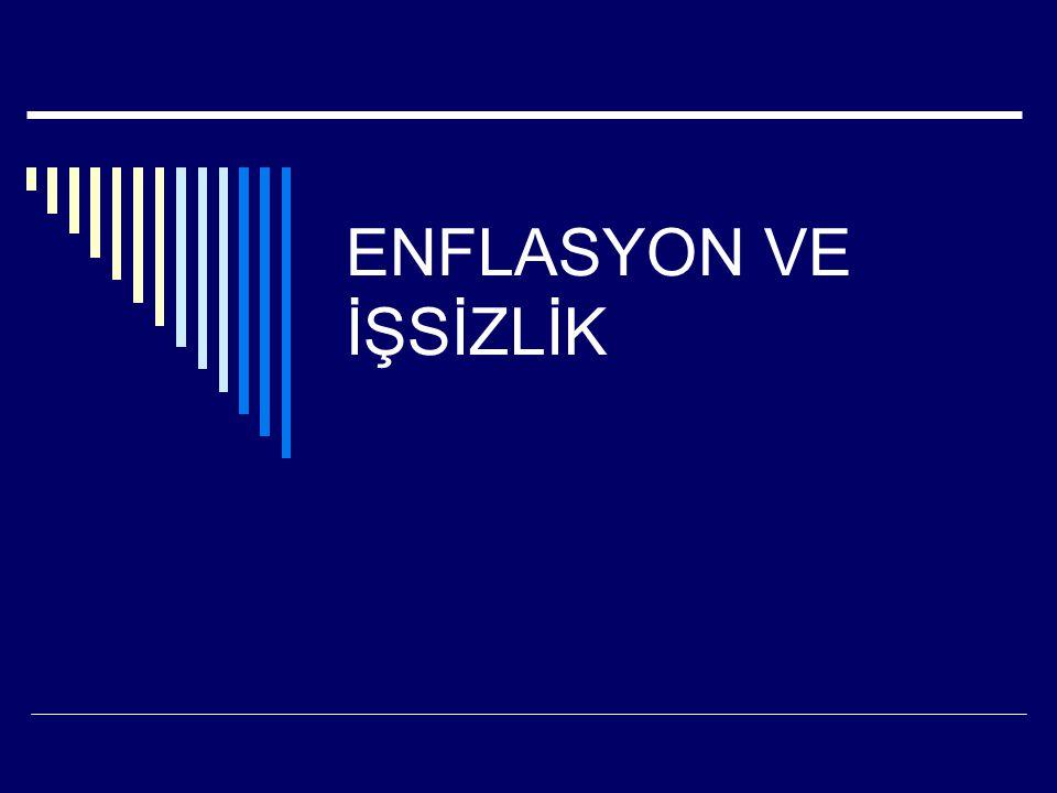 ENFLASYON VE İŞSİZLİK